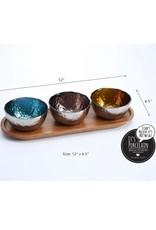 Pampa Bay Colored Glass Bowls & Tray Set