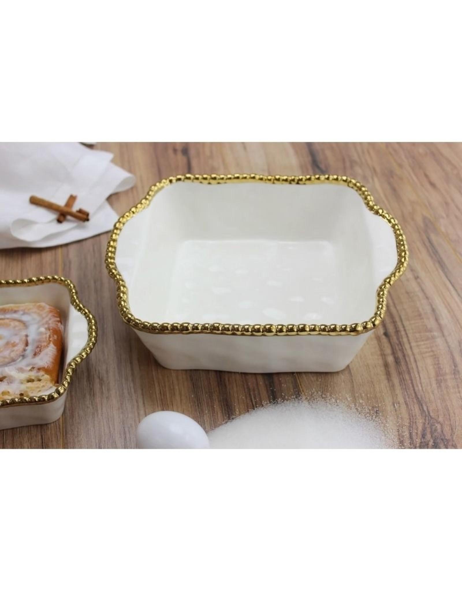Pampa Bay Square Baking Dish- White/Gold
