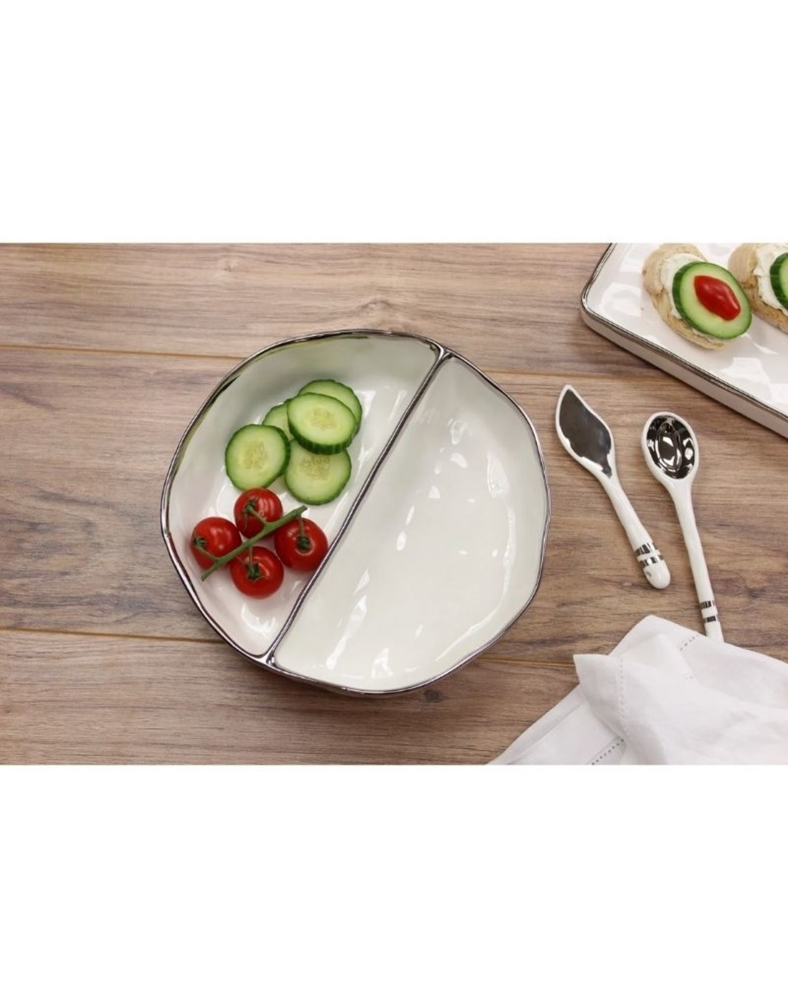 Pampa Bay Large 2 Section Serving Piece