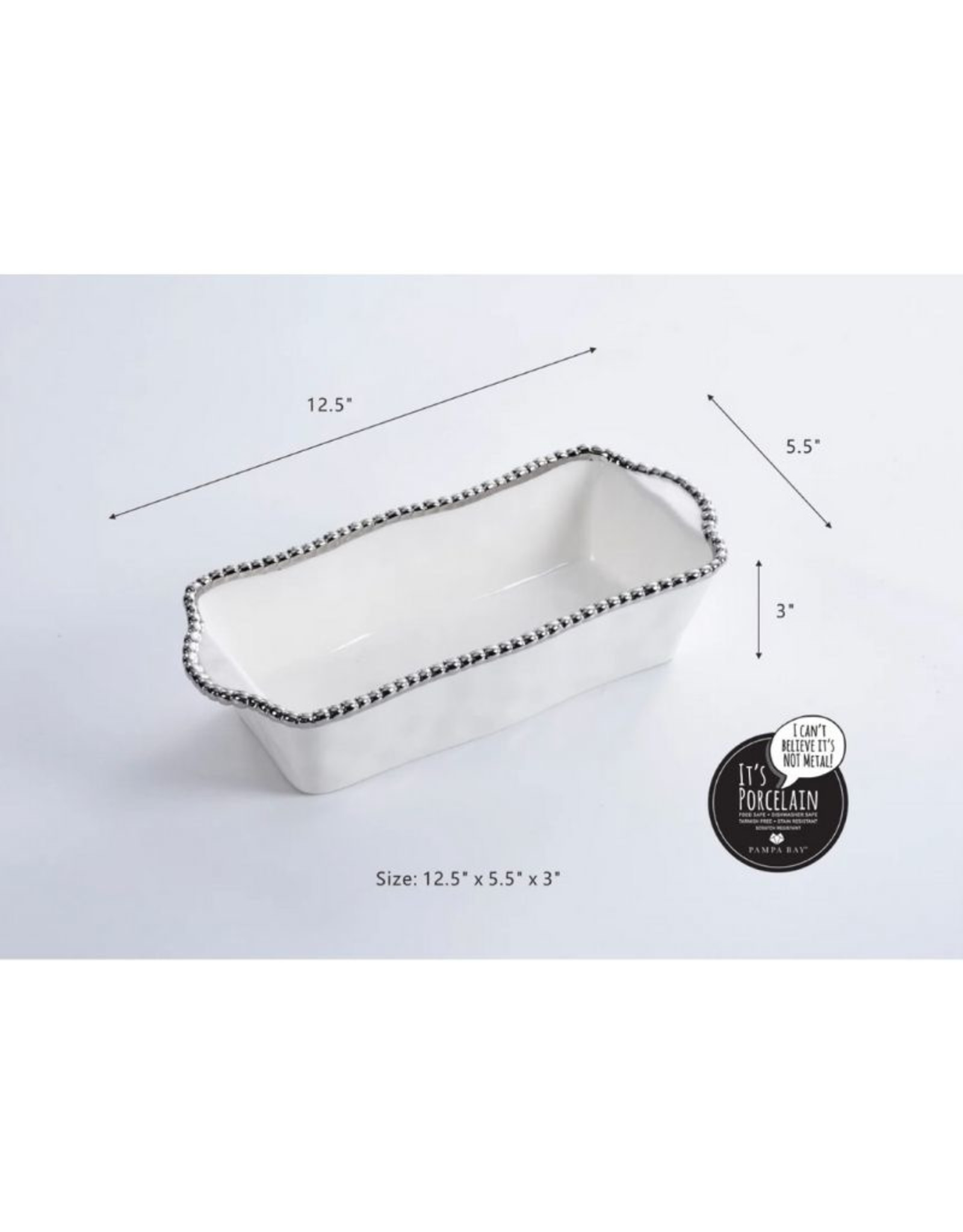 Pampa Bay Loaf Baking Dish- Silver
