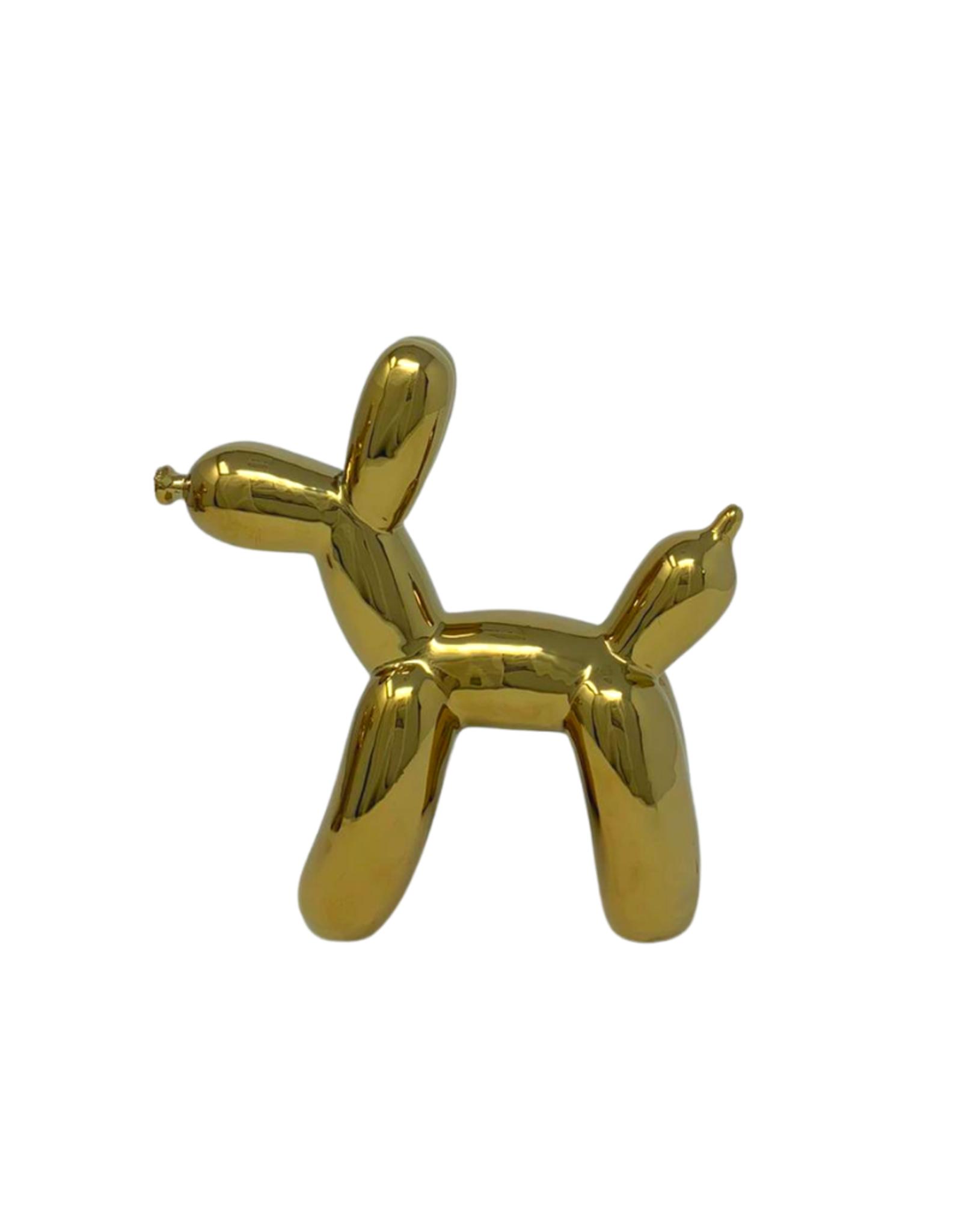Small Ceramic Balloon Dog - Gold
