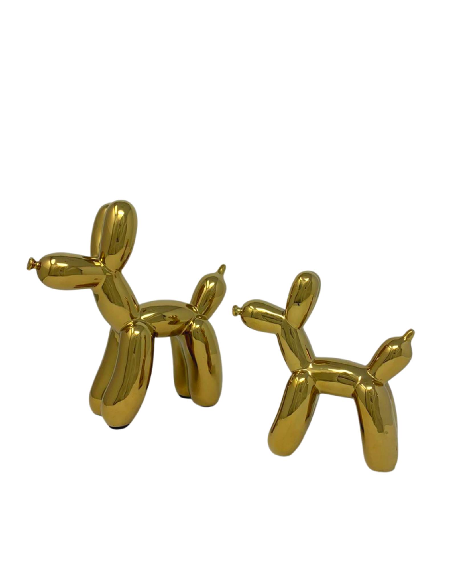 Large Ceramic Balloon Dog - Gold