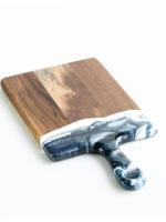 Large Acacia Resin Cheeseboard // Navy/White/Metallic
