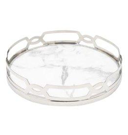 Godinger White Marble Design Tray