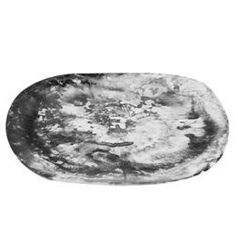 Nashi Home Organic Platter Medium - Black Swirl