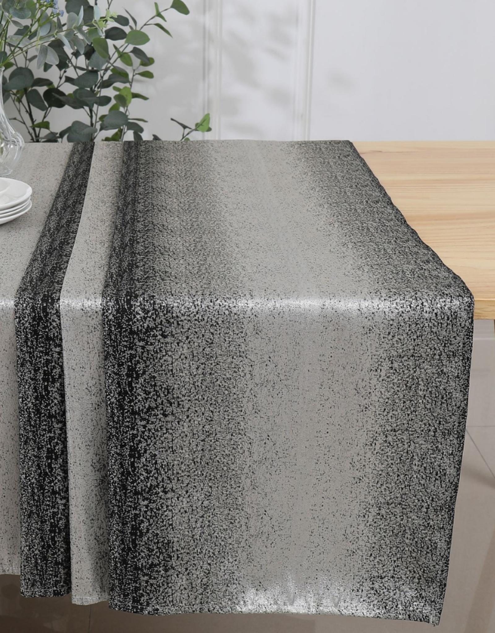 Jacquard Tablecloth Black/Silver #1203