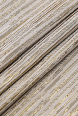 Jacquard Tablecloth Striped Gold/Beige #1205