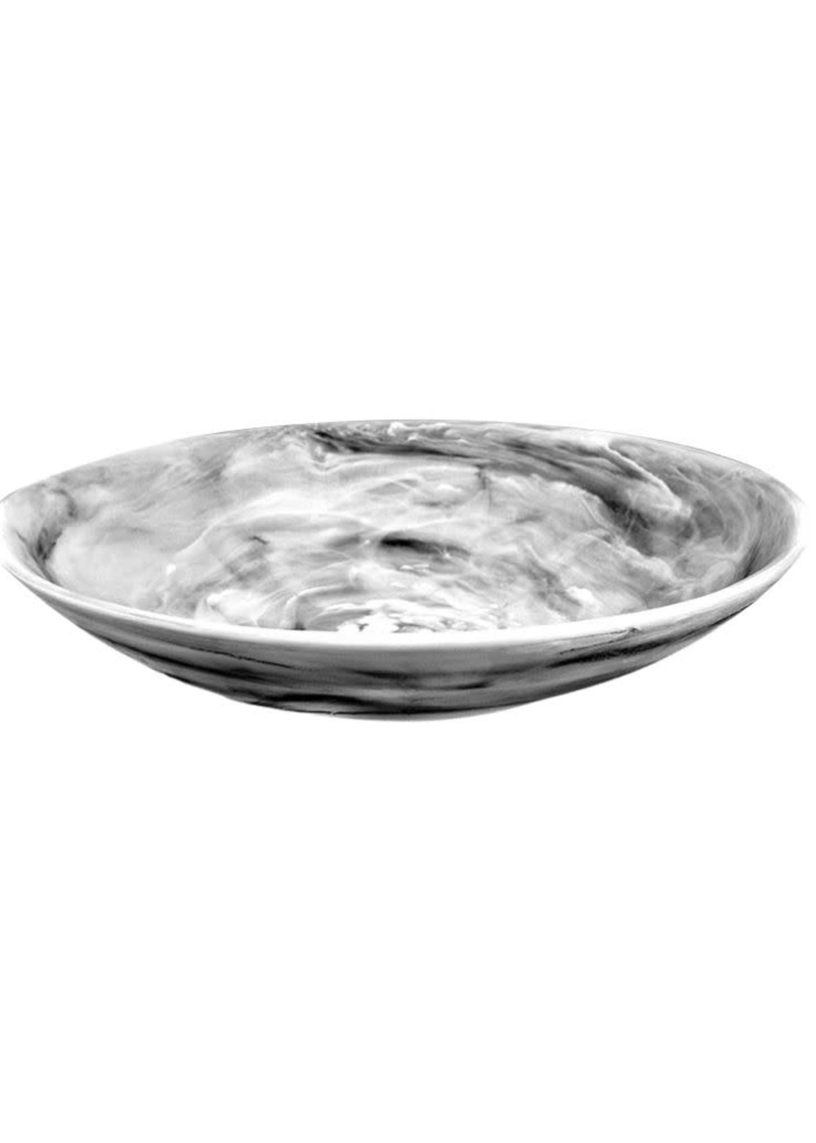 Everyday Medium Bowl w Salad Server Set 2pc - Black Swirl