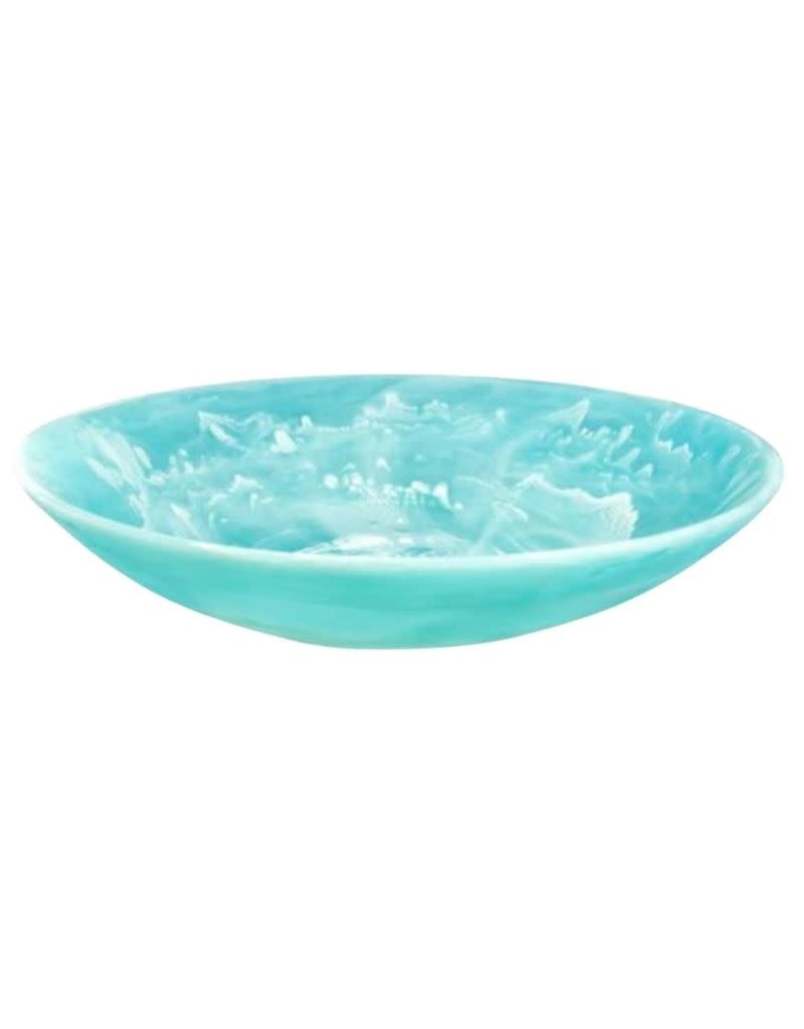 Nashi Home Everyday Medium Bowl w Salad Server Set 2pc - Aqua Swirl