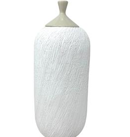 Lorain Large Cera Jar / White