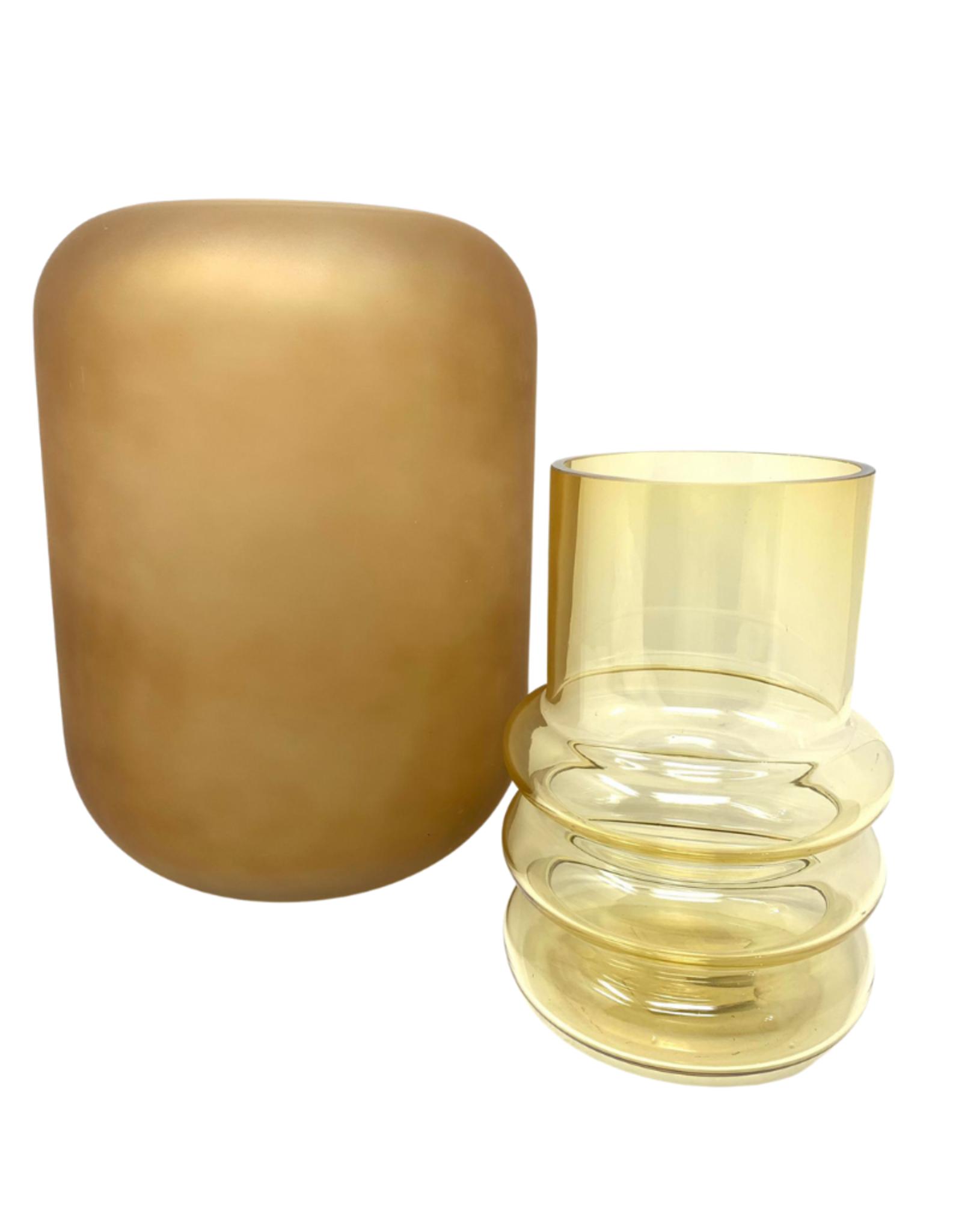Centralia Small Hand Blown Glass Vase / Oat
