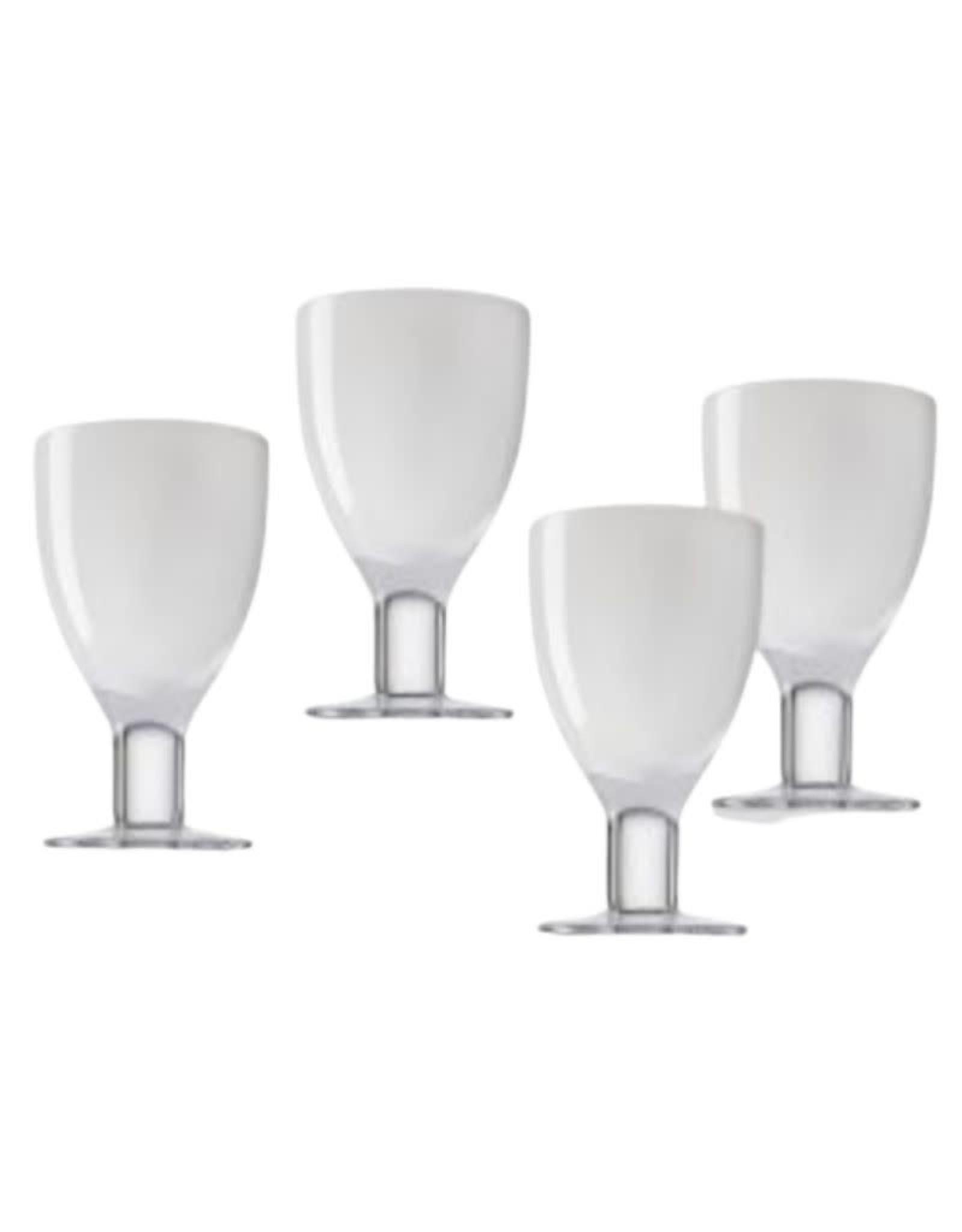 Set of 4 Galley White Glasses-13.5oz