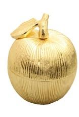 Gold Apple Shaped Honey Jar w Spoon
