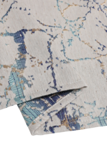 Jacquard Tablecloth Crackle Beige/Turquoise/Gold #1221