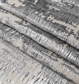 Jacquard Tablecloth Abstract Beige/Silver #1223