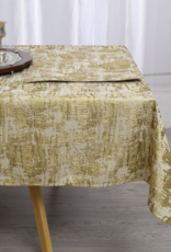 Jacquard Tablecloth Abstract Beige/Gold #1224
