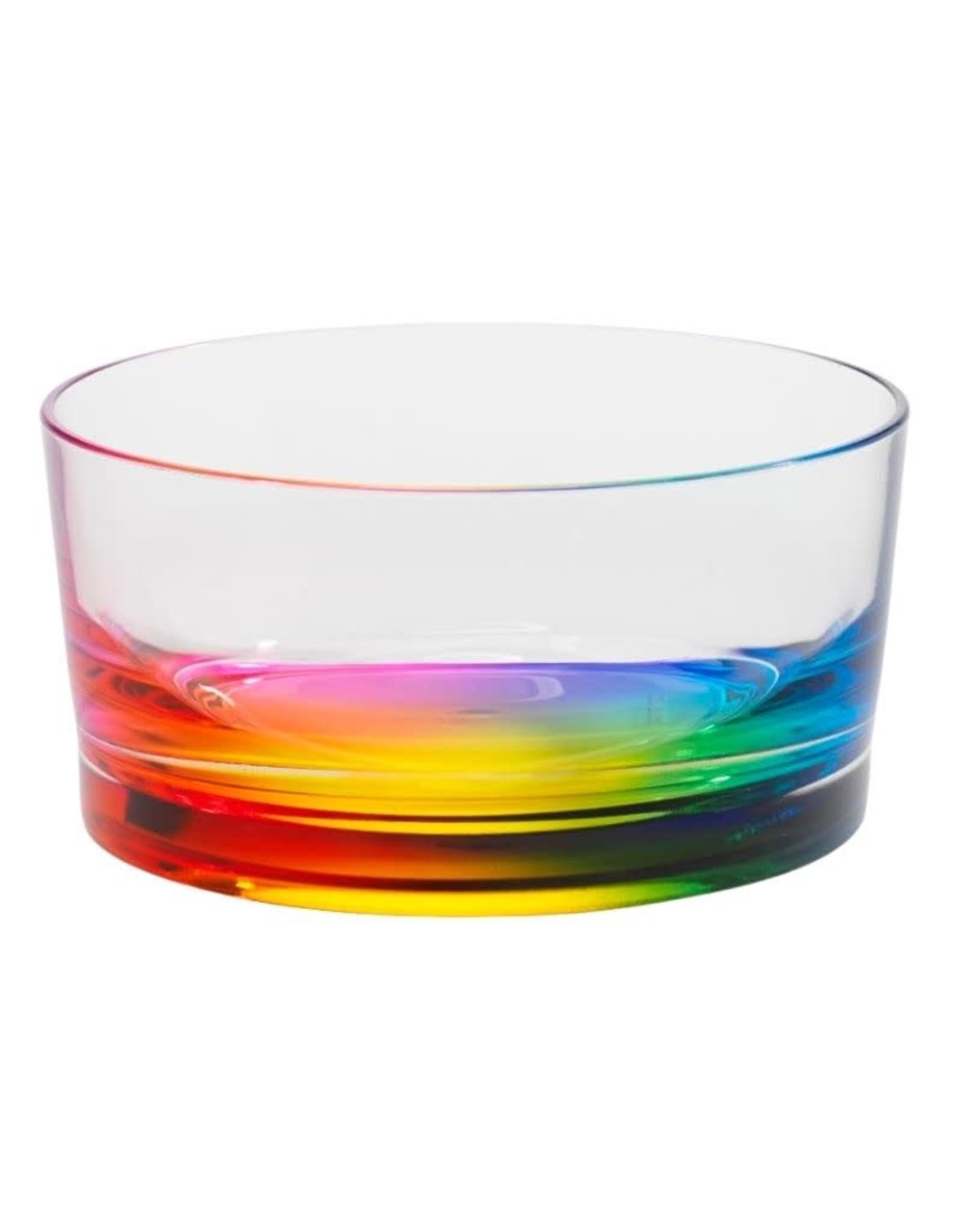 Teardrop  6 in. Salad  Bowl Rainbow
