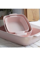 "Medium Rectangular Baker 16"" - Marshmallow Rose"