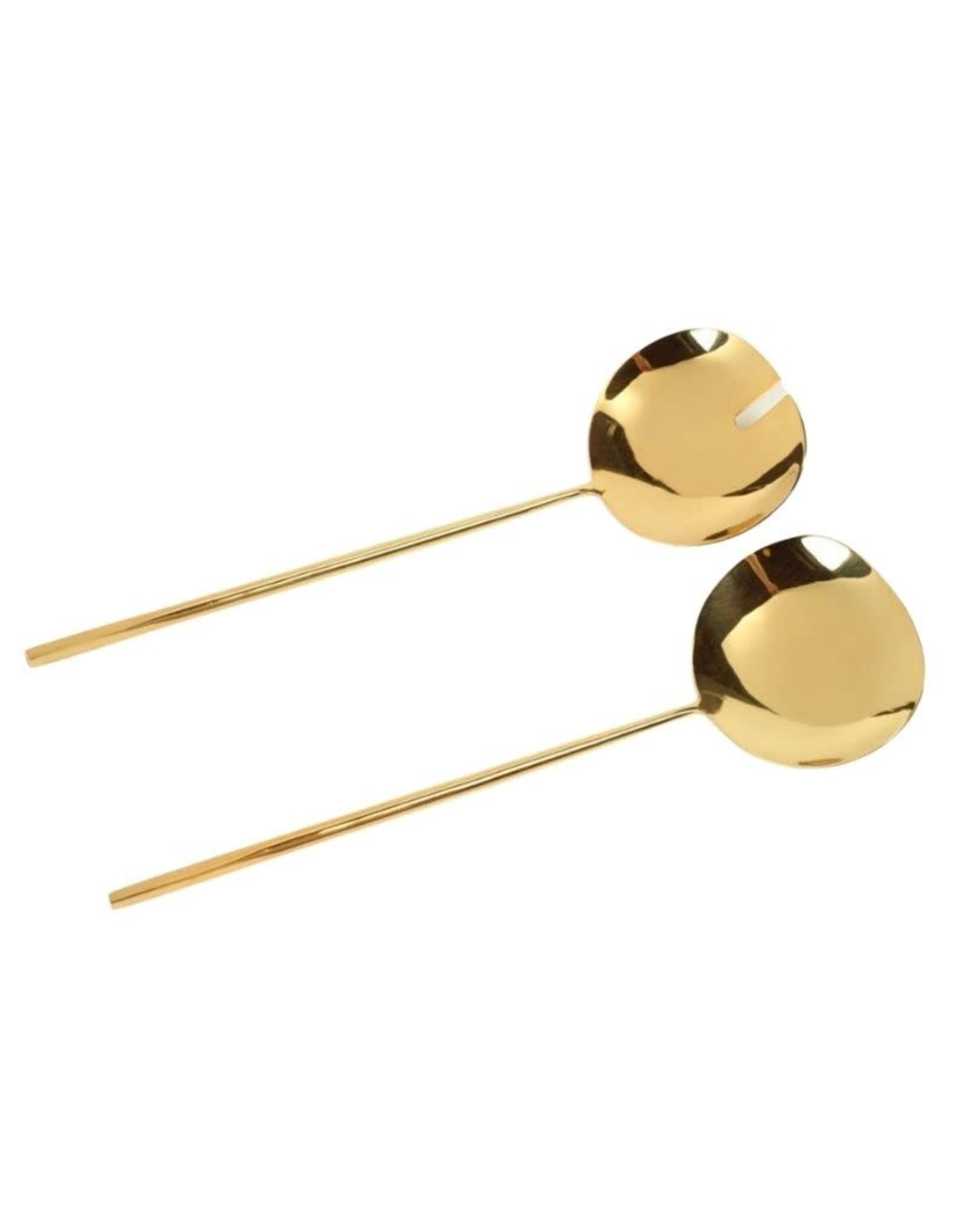 Dainty Polished Gold Server Set