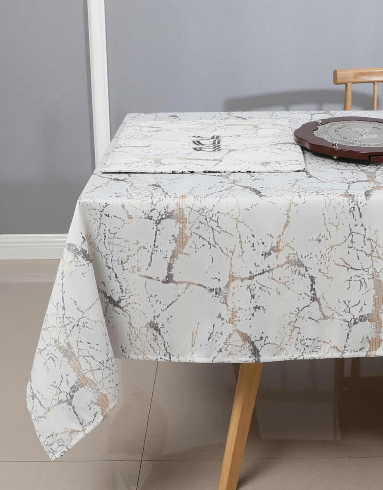 Jacquard Tablecloth Crackled Metallics #1232