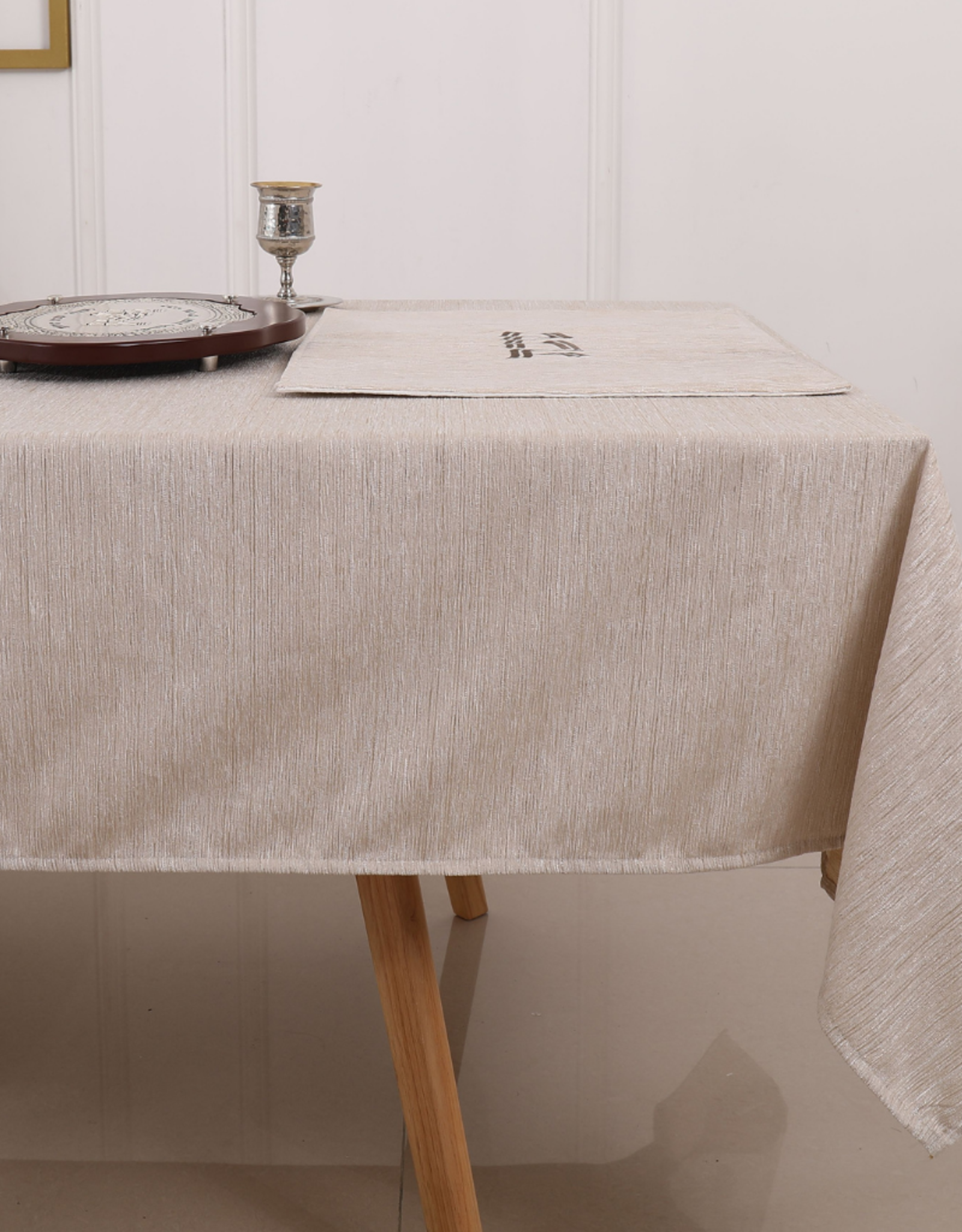 Jacquard Tablecloth Textured Oatmeal #1238