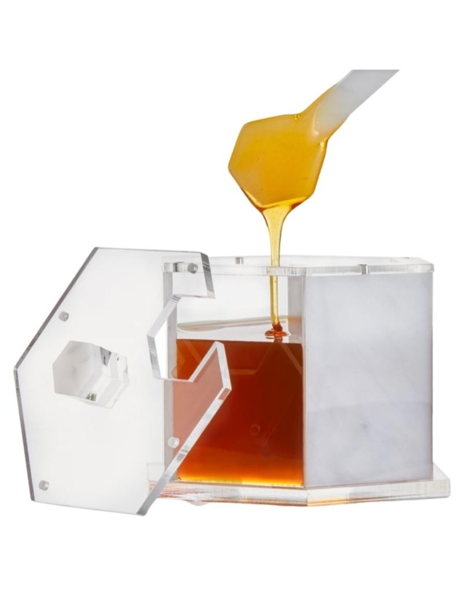 Waterdale Rosh Hashanah Honey Dish Hexagon Marble