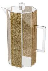 Waterdale Hexagon Acrylic Pitcher Gold Glitter