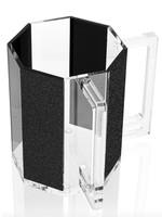 Hexagon Washing Cup // Black Glitter