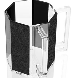 Waterdale Hexagon Washing Cup Black Glitter