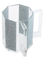 Hexagon Washing Cup // Silver Glitter