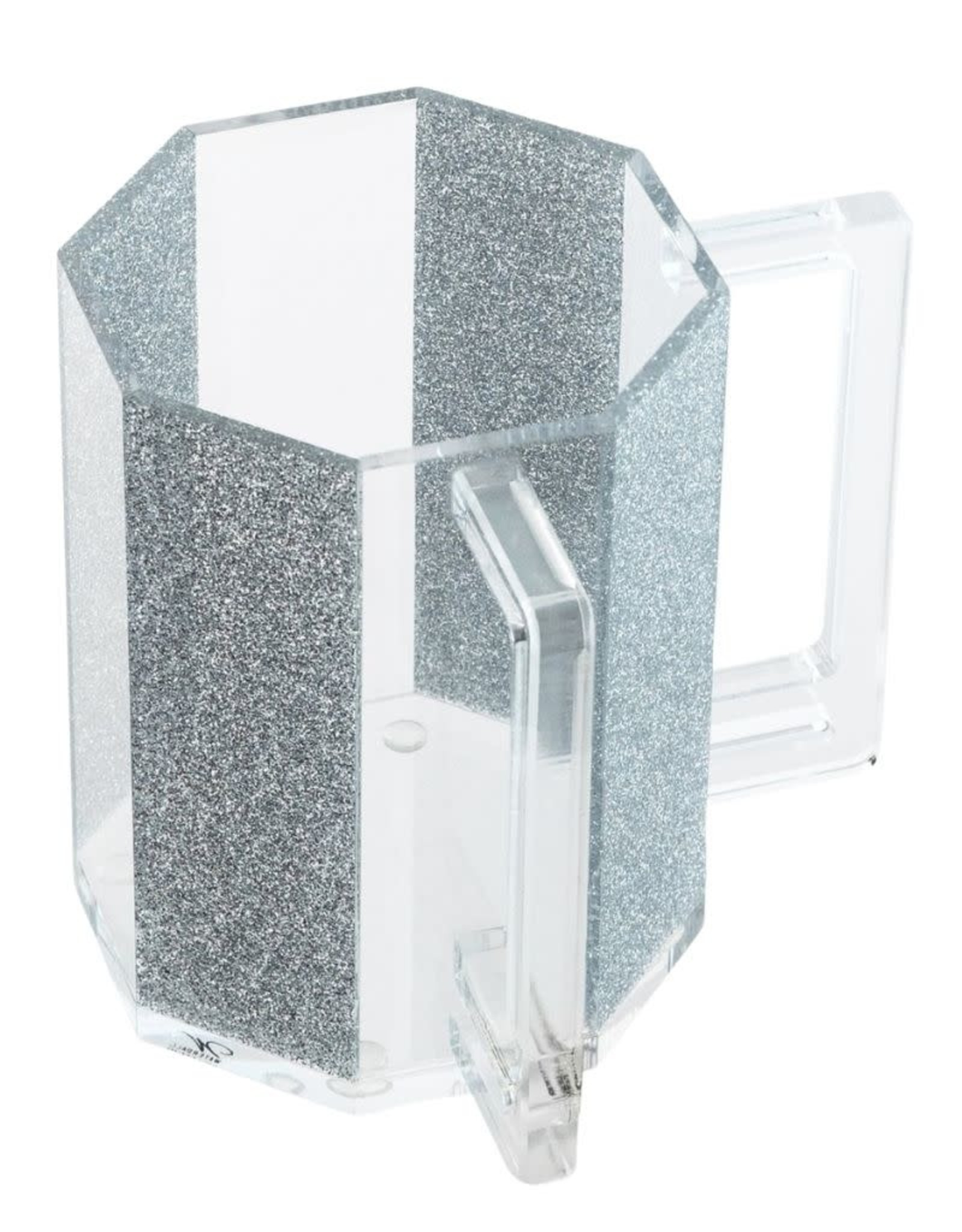 Waterdale Hexagon Washing Cup Silver Glitter