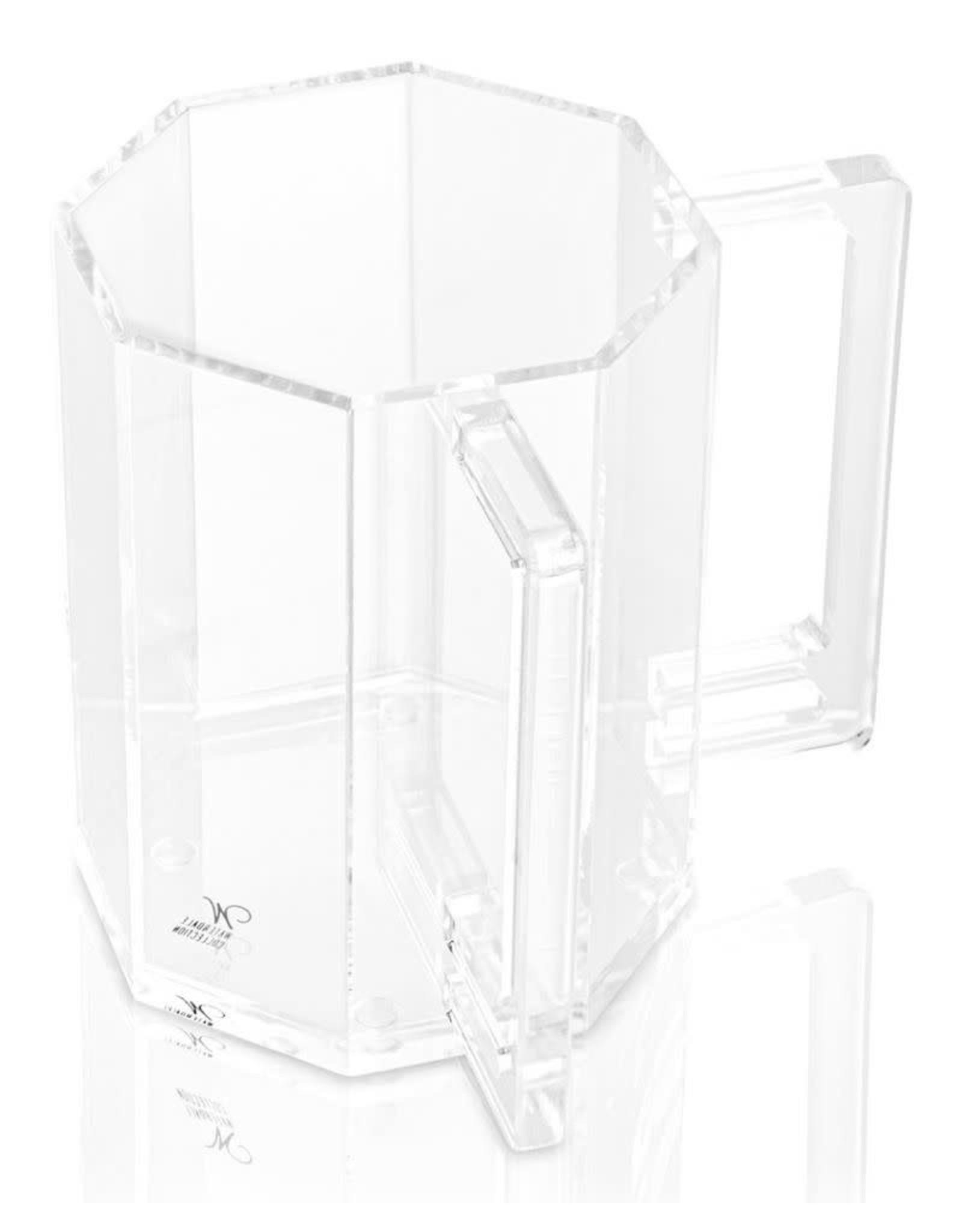 Waterdale Hexagon Washing Cup Clear
