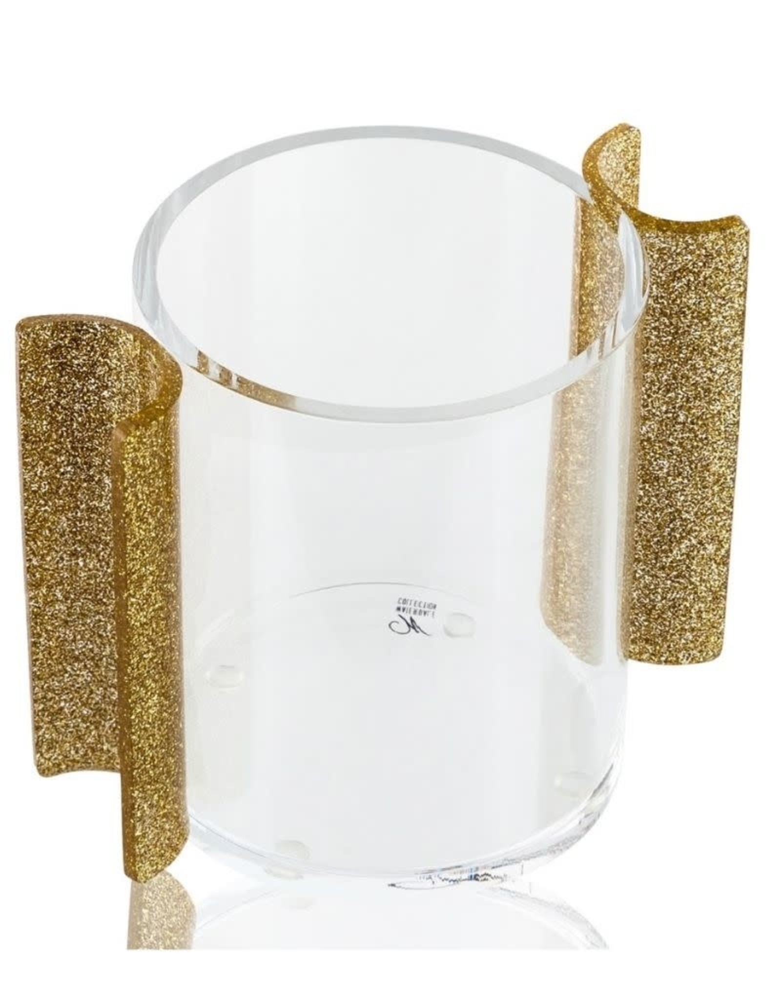 Round Washing cup Gld Glitter