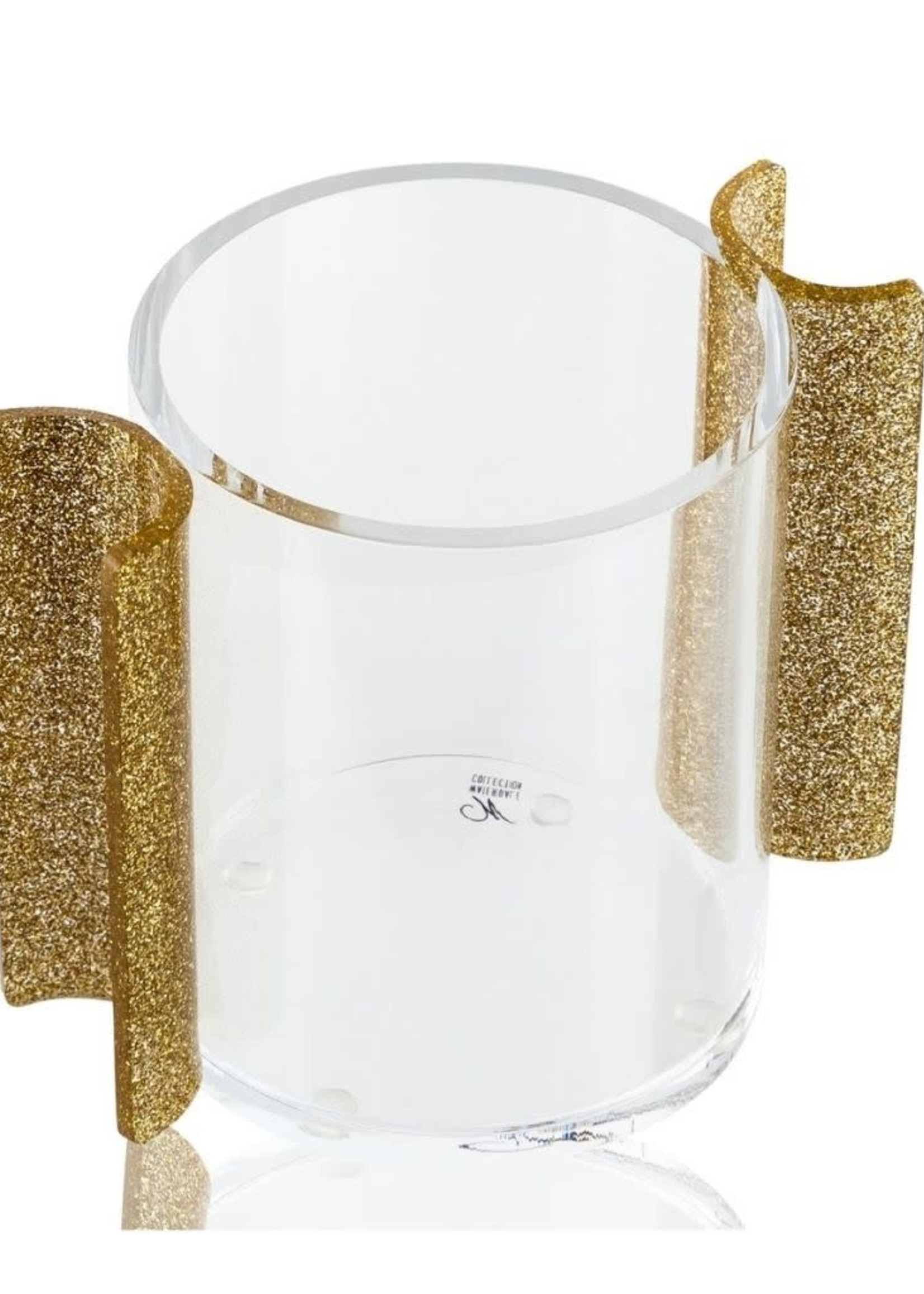 Round Washing Cup // Gold Glitter
