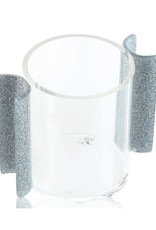 Round Washing Cup Silver Glitter