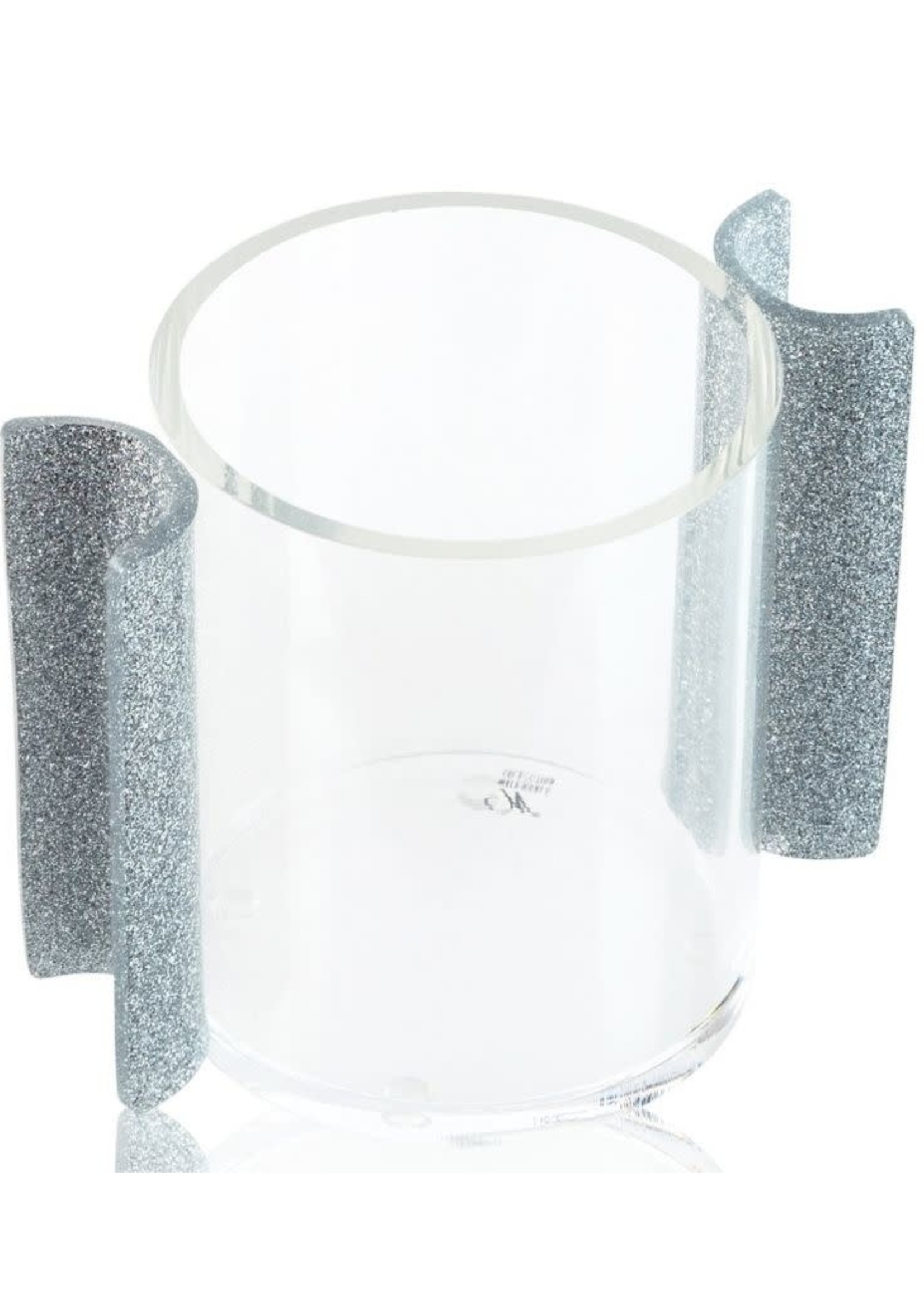 Round Washing Cup // Silver Glitter