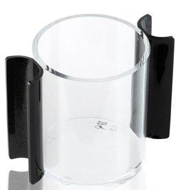 Round Washing Cup Black Glitter