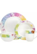 Multi-Color Tie Dye 16 Piece Dinnerware Set