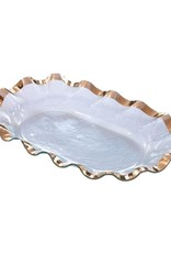 Gold Ruffle Rectangle Tray- Small
