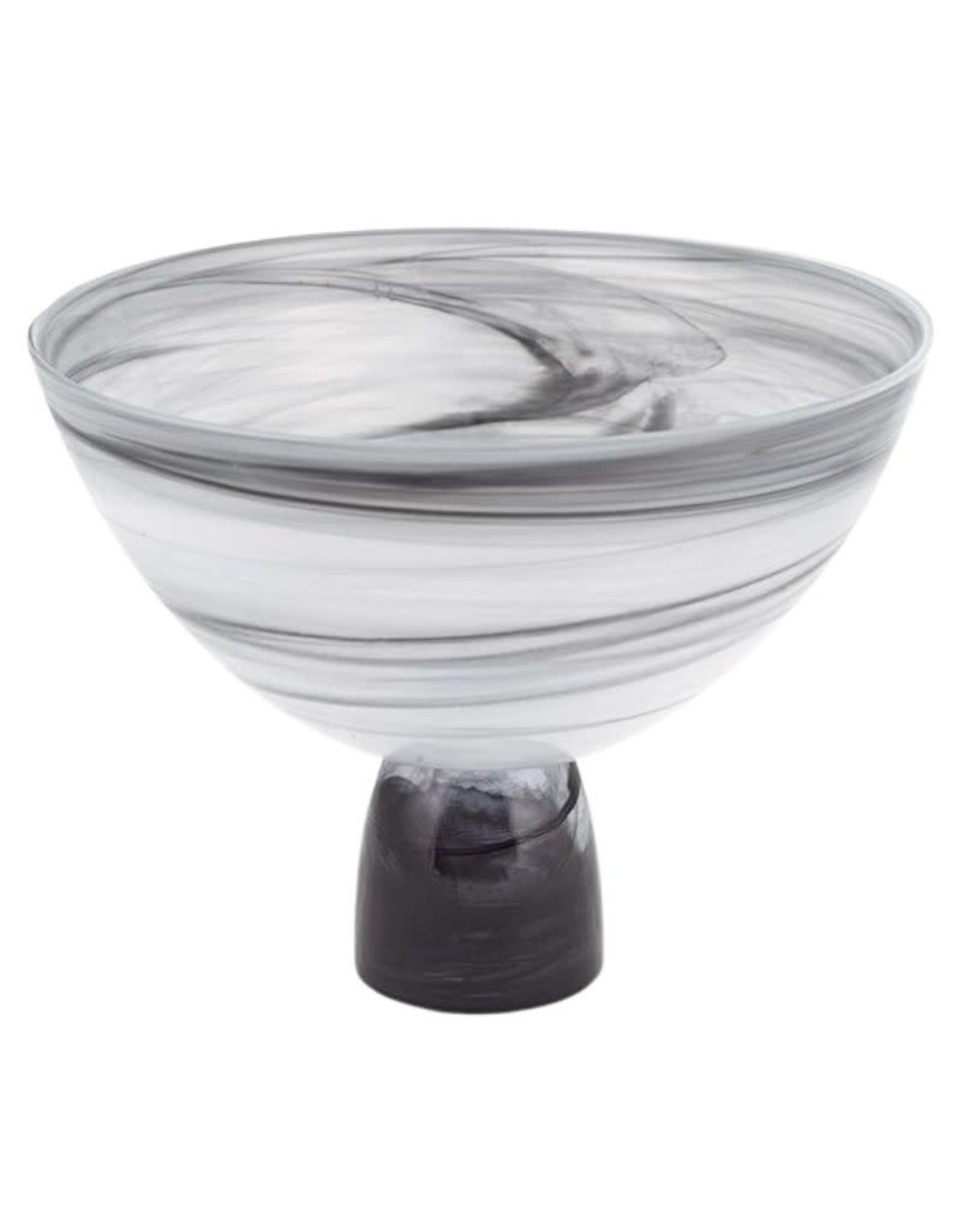 Gray/White Alabaster Bowl