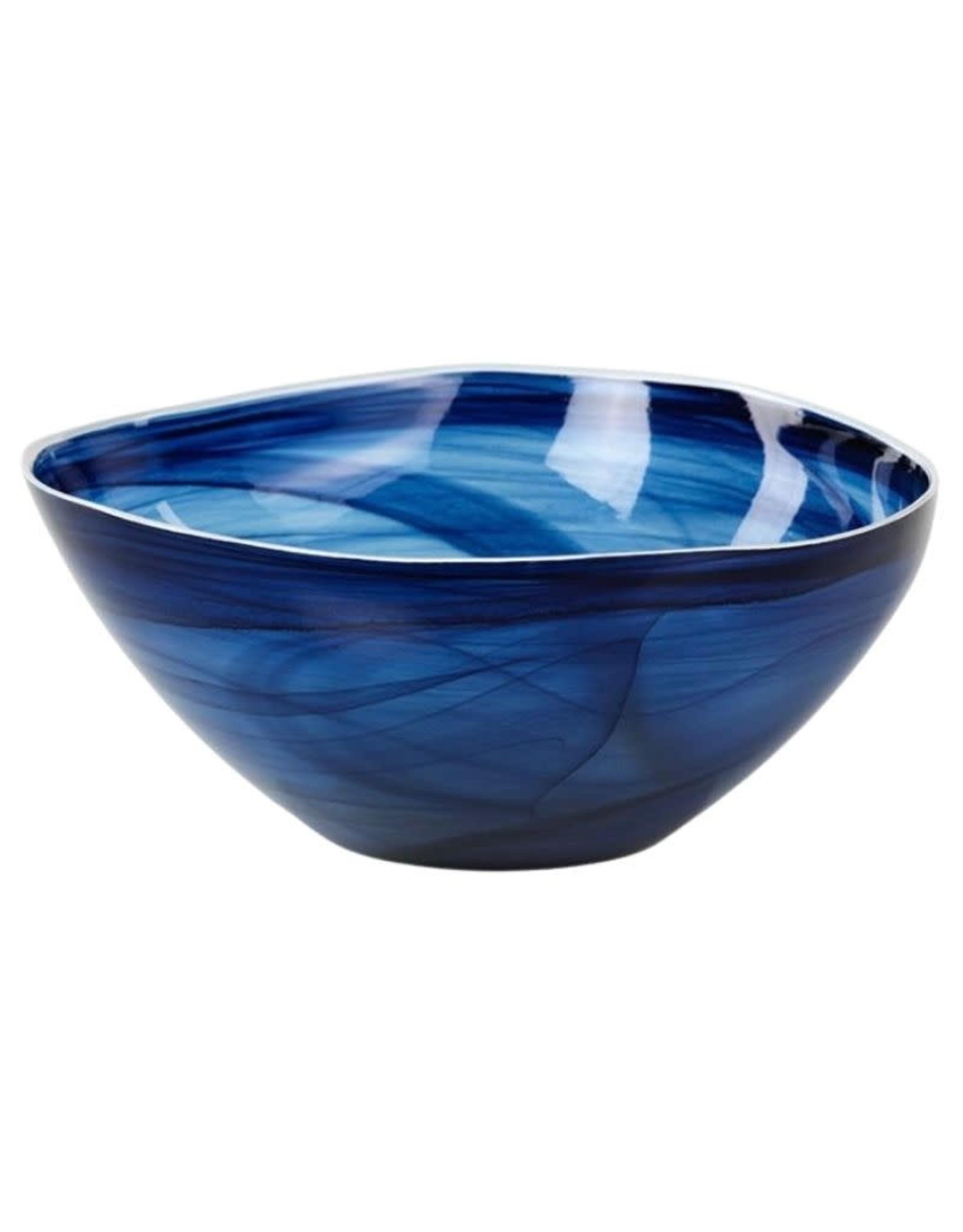 Monte Carlo Alabasater Glass Bowl-Indigo