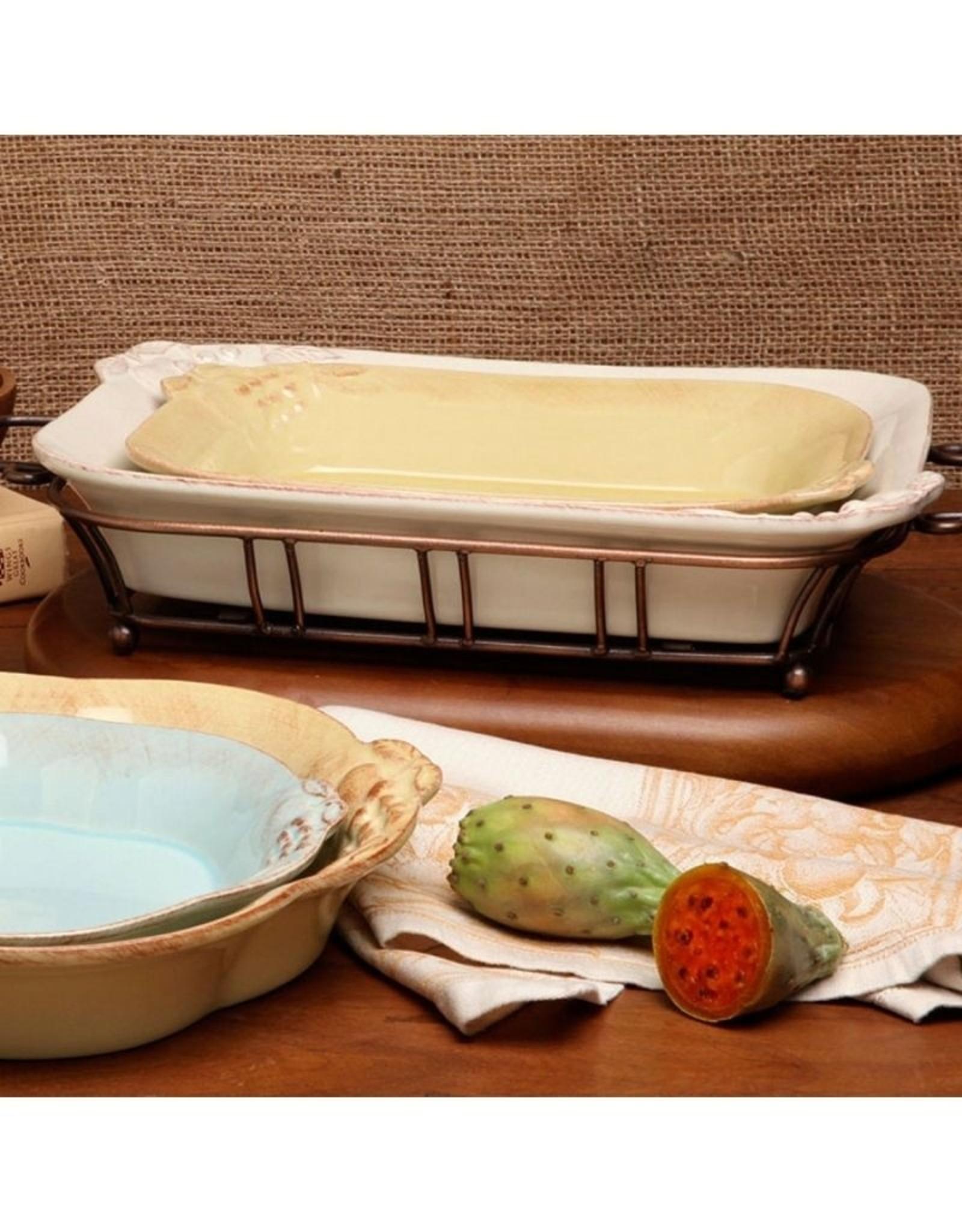 Large Rectangle Baker - Harvest Vanilla Cream
