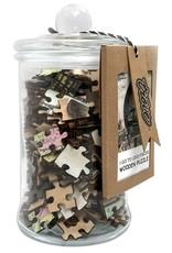 Puzzle Glass Jars