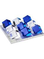 Acrylic Tic Tac Toe Set - Blue/ Clear Square