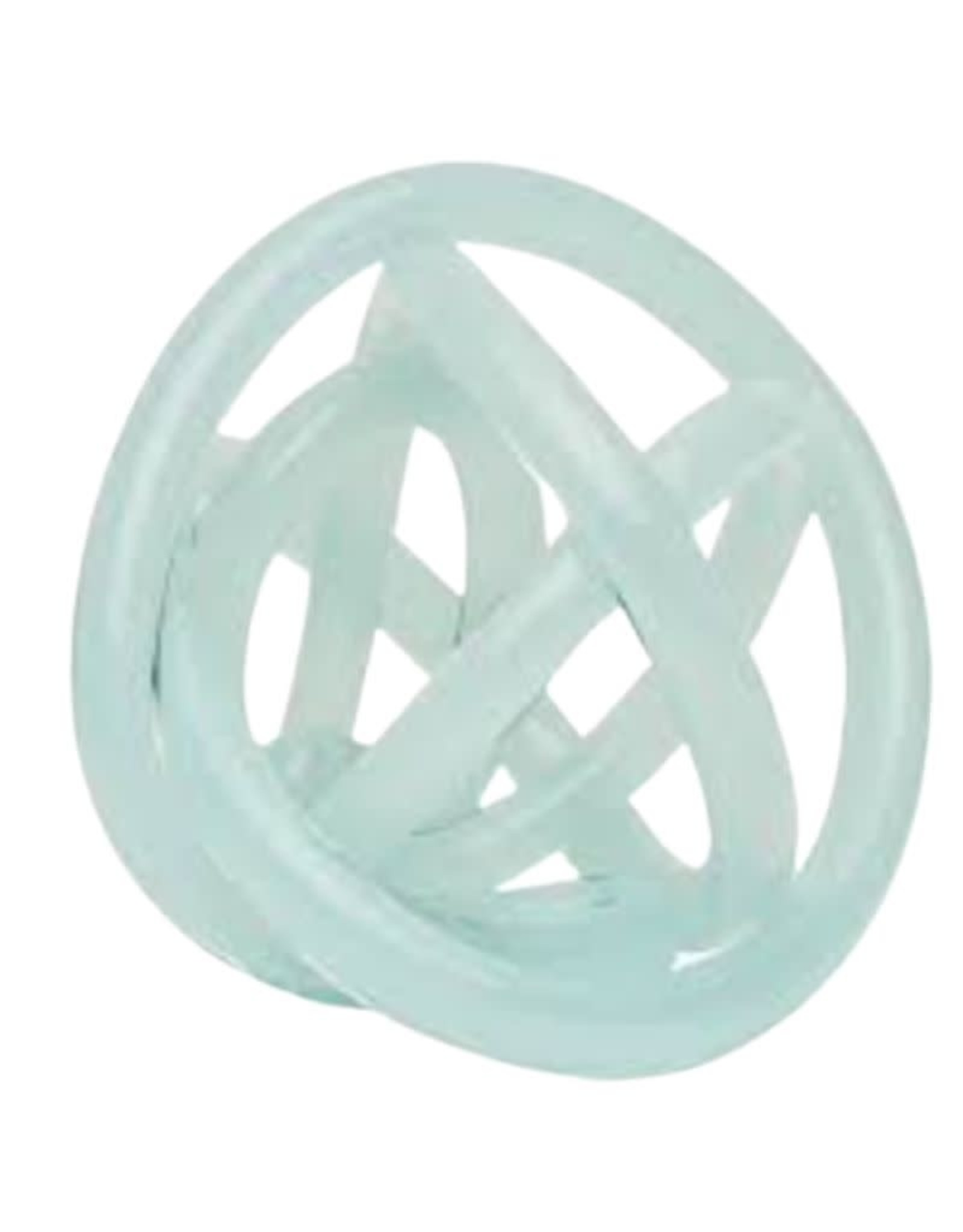 Hand Blown Glass Knot - Turquoise