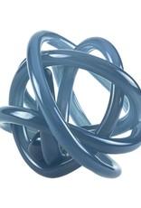 Hand Blown Glass Knot - Blue