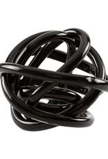 Hand Blown Glass Knot - Black