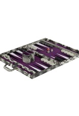 Black/White Snakeskin Backgammon Set