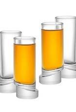 Aqua Vitae Round Shot Glasses - Set of 4