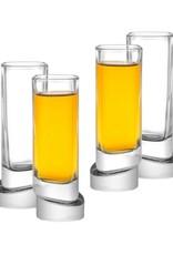 Aqua Vitae Square Shot Glasses - Set of 4